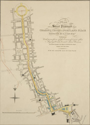 Plan of a street proposed from Charing Cross to Portland Place designed by I. Nash Esq.